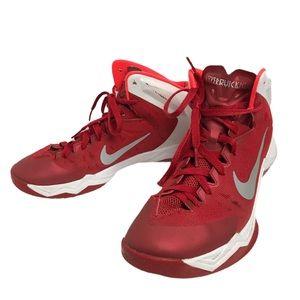 Nike Red Hyperquickness HighTop Basketball Sneaker